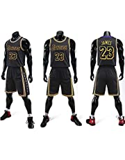 Lakers 23# James Basketbal ronde hals Jersey, Men's Sports Vest, Korte broek, Tweedelig Basketball T-shirt, Jerseys