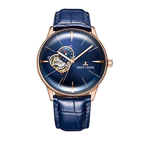 REEF TIGER Herren Uhr analog Automatik mit Leder Armband RGA8239-PLL