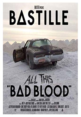 MZCYL Leinwand Paingting Wohnzimmer Poster Bastille Bad Blood Schlafzimmer dekorative Poster GTU425 Rahmenlos 40cmx60cm