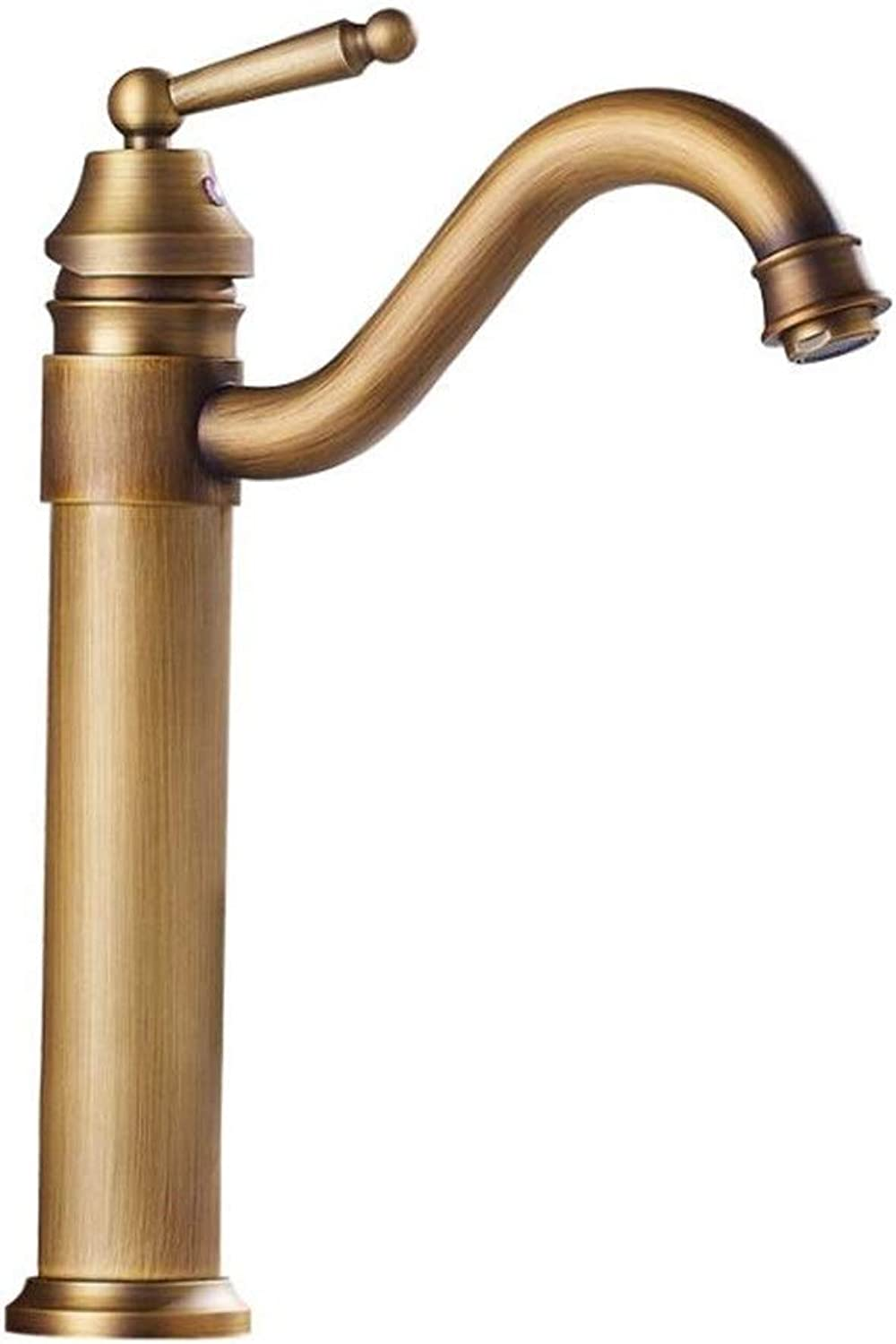 Faucet all-copper European antique retro redating above counter basin faucet bathroom cabinet basin hot and cold water faucet