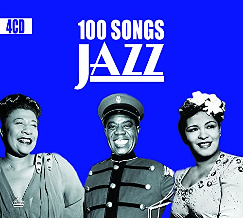 4 CD 100 Canzoni Jazz, Swing, New Orleans, Classics Jazz Songs & Standards