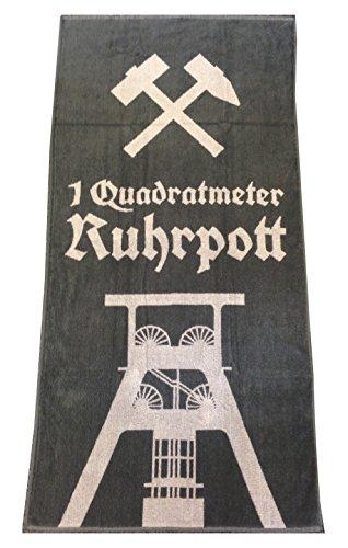 Badetuch Saunatuch Handtuch 1qm Ruhrpott - Geschenkbox Design