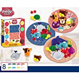 Spirgo Air Dry Clay Animal Party Playset Magic Clay Set with 8 Colors – Ideal Gift for Boys and Girls – Stimulates Musical Imagination and Creativity