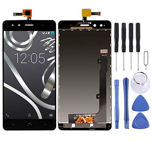 ZAORUN Piezas de Recambio, Ensamblaje Completo de Pantalla LCD y digitalizador Compatible For BQ Aquaris X5 Teléfono móvil sustituir Parte (Color : Black)