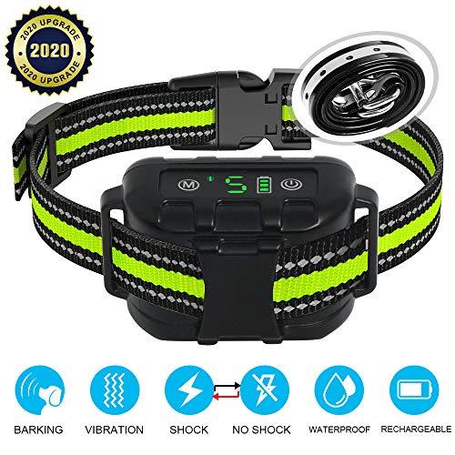 Dog Bark Collar-Dog Barking Training Collar Rechargeable 5 Sensitivity Dog Anti Bark Collar with Beep Vibration and No Harm Shock for Small Medium Large Dogs- IP67 Waterproof Smart Bark Control Device