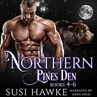 Northern Pines Den Alphas Books 4-6     Northern Pines Den Bundle, Book 2              By:                                                                                                                                 Susi Hawke                               Narrated by:                                                                                                                                 John Solo                      Length: 9 hrs and 14 mins     61 ratings     Overall 4.6