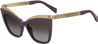 Moschino MOS009/S Sunglasses Violet w/Dark Grey Gradient Lens 52mm B3V9O MOS 009S MOS 009/S MOS009S