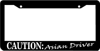 Best caution asian driver license plate frame Reviews