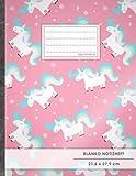 """Blanko Notizbuch • A4-Format, 100+ Seiten, Soft Cover, Register, """"Einhörner Mädchen"""" • Original #GoodMemos Blank Notebook • Perfekt als Zeichenbuch, Skizzenbuch, Blankobuch, Leeres Tagebuch"""