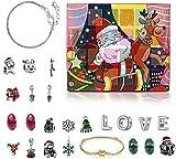 Monuary Calendario de Adviento Navidad, Calendario Navideño con 24 Días Sorpresa Bricolaje Charms...