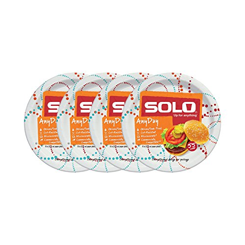 Solo Cup Any Day Paper Plates, 10 Inch, 220 Count