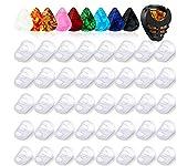 40 Pezzi Protezioni per Dita della Chitarra in 5 Formati 10 Pezzi Plettri per Chitarra 0.5 mm con 1 Supporto per Plettro per Chitarra, Coperture per Dita per Chitarra per Strumenti a Corda Chitarra
