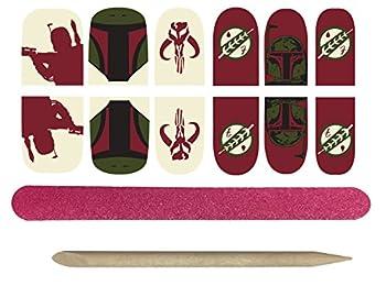 Rubie s Adult Star Wars Boba Fett Nail Stickers