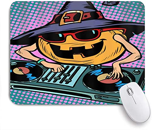 PATINISA Mouse Pad Mouse Mat,Halloween Pumpkin Dj,Gaming Mouse Pad Custom for Laptop,Computer and PC Home Office Working