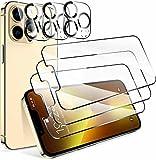 BNBUKLTD® Lot de 2 protections d'écran en verre compatibles avec Apple iPhone 13, compatibles avec écran Pro en verre et lentille d'appareil photo