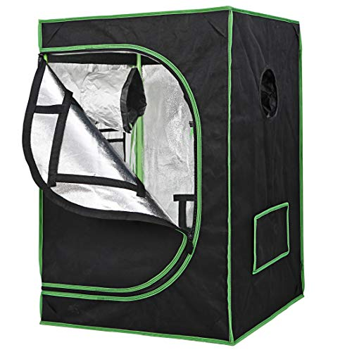 Nova Microdermabrasion Mylar Hydroponic Grow Tent Kit with Observation Window and Floor Tray, 24'x24'x36' High Reflective Lightproof Growing Room for Indoor Plant Fruit Flower Veg