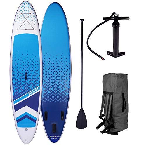 BRAST SUP Board Dude 320cm Stand up Paddling Paddle aufblasbar 2 Modelle Partner-Set Dude + Lady 300-320cm bis 120KG Alu-Paddel