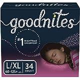 GoodNites Bedwetting Underwear for Girls, L/XL, 34 ct,...