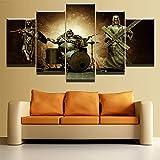 Marco HD Impreso Lienzo Cartel Hogar Decorativo Sala de estar 5 Panel Buda Jesús Música Imágenes Arte de la pared Pintura modular