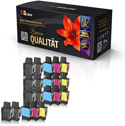 20x Alternative Tintenpatronen für Brother LC 900 DCP 315 CN DCP 340CW DCP 340DCW MFC 210 MFC 210C MFC 210 CN MFC 215C Sparpack Color Office Serie LC 900 K LC 900 C LC 900 M LC 900 Y 123color