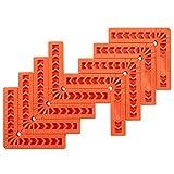 amtovl set 8pz squadra di posizionamento 90° per carpentiere 8x4 morsetto angolare a l in plastica per lavorazione legno 8x morsetti ad angolo retto per cornici di quadro armadi cassetti - arancione