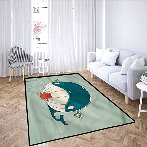For Sale! Whale Baby Crawling Mat Kids Playmat Kitten Eating Huge Fish for Babies, Infants, Toddlers...
