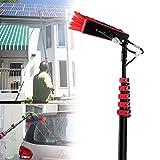 Kit de poste de alimentación de agua de 3,6-11 m, Herramienta de limpieza con poste telescópico, Se utiliza para limpieza de ventanas, paneles fotovoltaicos, limpieza de paneles solares, automóviles