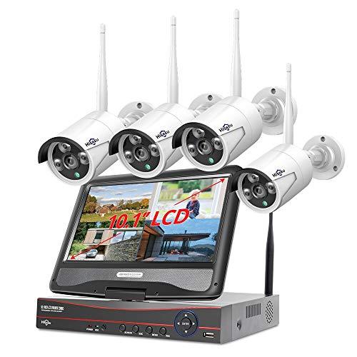 BAO 8CH Sistema Senza Fili 1536 P 1080 NVR wifi Esterna 3MP AI IP Camera Sistema di Sicurezza Video Sorveglianza LCD monitor Kit 10inchlcdmonitor