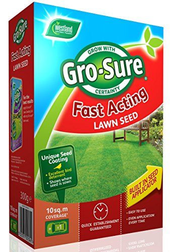 Gro-Sure Fast Acting Lawn Seed, 10 m2, 300 g