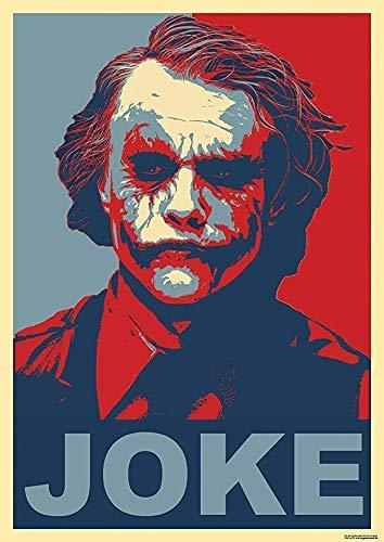Tainsi Joker Batman The Dark Knight Why So Serious Red Blue Poster-11 x 17 pulgadas, 28 x 43 cm