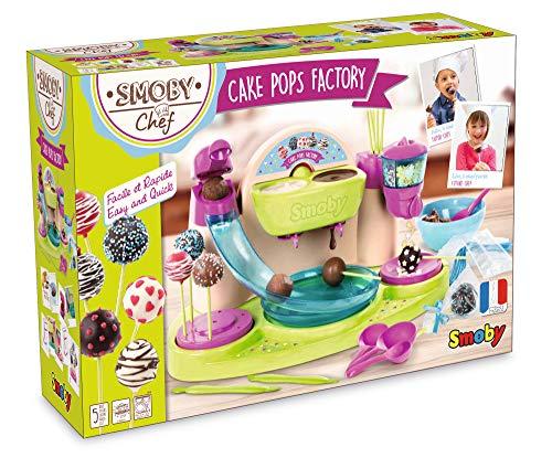 Smoby Chef - Cake Pops Factory - Fabrique à Cake Pop + Livre de Recettes - Atelier de Cuisine...