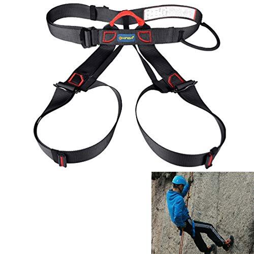 SHL Klettergurt Sicher Sicherheitsgurt for Rock Hochrangigen Caving Klettern Einstellbare Abseilen Ausrüstung Halb Body Guard Schützen (schwarz) XY (Farbe : Black)