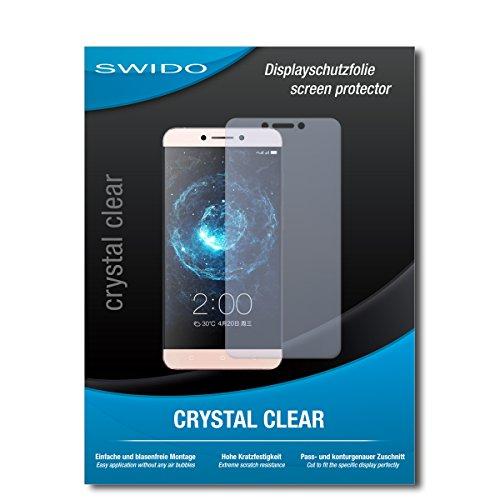 SWIDO Schutzfolie für LeEco Le 2 [2 Stück] Kristall-Klar, Hoher Festigkeitgrad, Schutz vor Öl, Staub & Kratzer/Glasfolie, Bildschirmschutz, Bildschirmschutzfolie, Panzerglas-Folie
