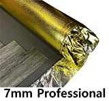 ROYALE® 7mm Professional Gold Underlay - 1m x 7.5m Roll - Damp Proof