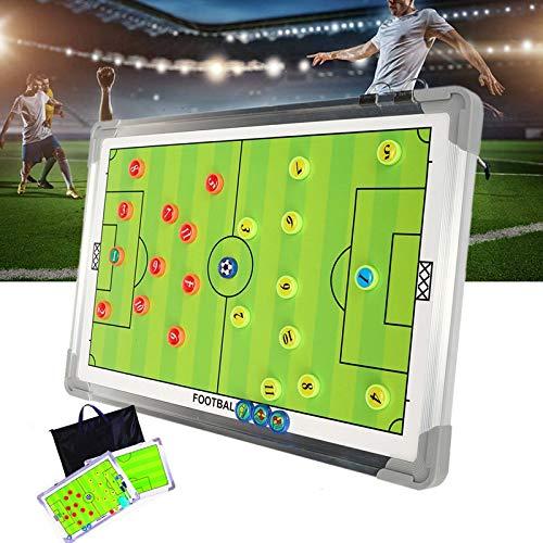 RoseFlower Carpeta táctica,Pizarra Táctica de Fútbol Imanes Coach Board para Entrenador Accesorios de Tablero de Entrenamiento (Taille: 44 * 32cm)