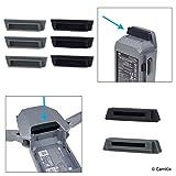 CAMKIX Protecteurs de Batterie et de Port de Charge en Silicone Compatible avec DJI Mavic Pro/Platinum Drone - 6X Batteries et 2X couvertures de Port de Charge