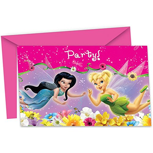 6 Einladungen Fairies Springtime