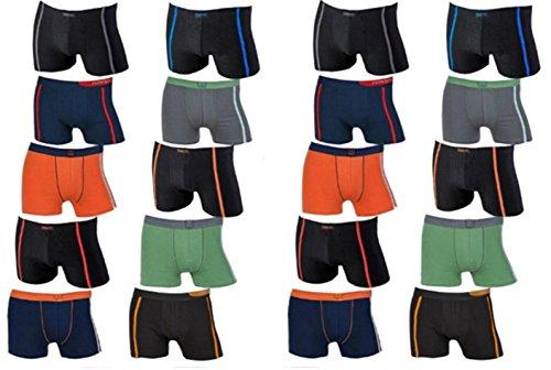 REMIXX 10 oder 20 Stück (Vorteilspack) Herren Boxershorts/Retroshorts von TippTexx24. Auch in Übergrößen bis 6XL (6/L-10 Stück)