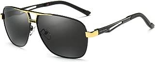 Polarized Mens Sunglasses,Outdoor Driving Sunglasses for Men,AL-MG Frame Sunglasses 100% UV Protection