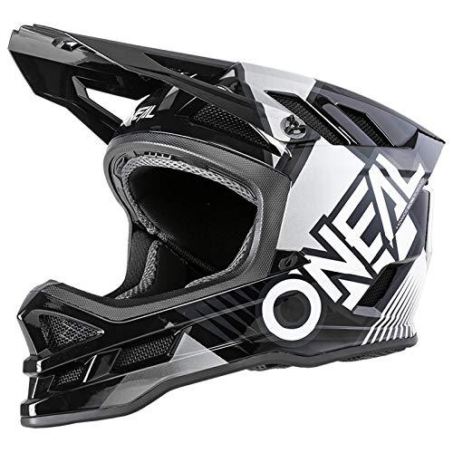 O'NEAL | Mountainbike-Helm | MTB Downhill | Dri-Lex® Innenfutter, Ventilationsöffnungen zur Kühlung, ABS Außenschale | Blade POLYACRYLITE Helmet Delta | Erwachsene | Schwarz Weiß | Größe S