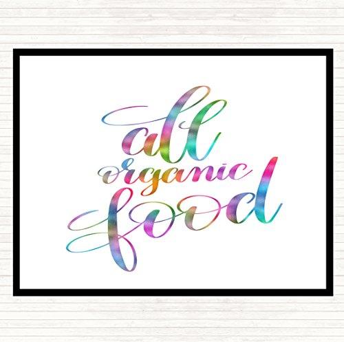 Alle biologische voedsel regenboog citaat muis mat pad
