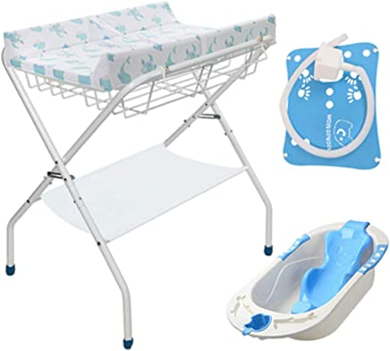 Baby Changing Diaper Dressing Table Diaper Table Care Station Multifunction with Bath Tub Touch Table
