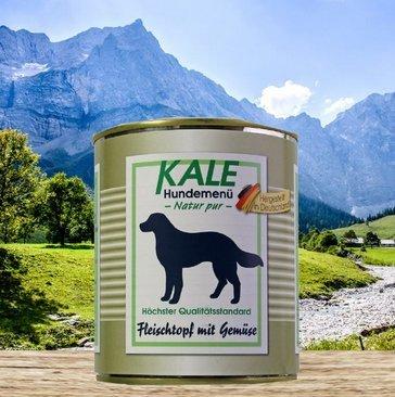 Kale Hundefutter Nassfutter Fleischtopf mit Gemüse (6 x 800g)