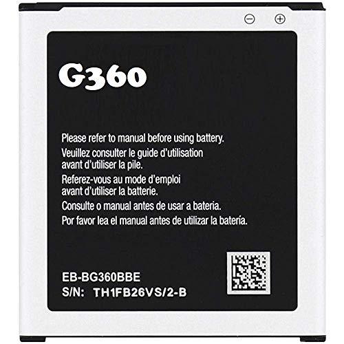 Samsung Batterie d'origine pour Samsung Galaxy Core Prime SM G360 G361F EB-BG360CBC EB-BG360BBE 2000 mAh