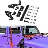 Sunluway Hi Lift Jack Mount Hood Hinge/Door Hinge Bracket for Jeep Wrangler JK JKU 2007-2019