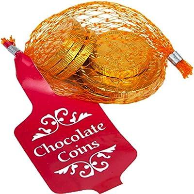 gold net of milk chocolate coins 25g Gold Net of Milk Chocolate Coins 25g 51VuepC7siL