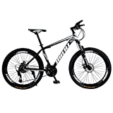 Culater Mountain Bike Studente Adulto da 26 Pollici per Bici da Mountain Bike A 21 velocità All'Aperto (Black)