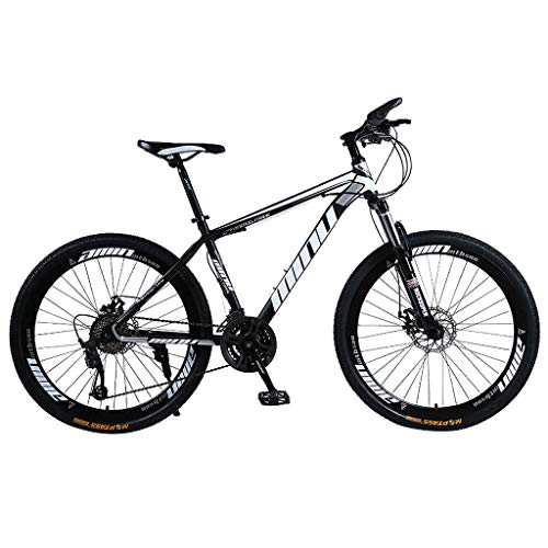 26in Folding Mountain Bike, Full Suspension Road Bikes with Disc Brakes, Shimanos 21 Speed Bicycle Full Suspension MTB Bikes for Men/Women