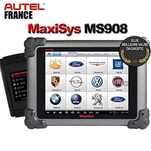 Autel France Autel MaxiSys MS908 S - 2 Ans de Mises à Jour + Pack de Logiciels - Version Officielle Valise Diagnostic sans-Fil Bluetooth Auto Pro Multi-Marques