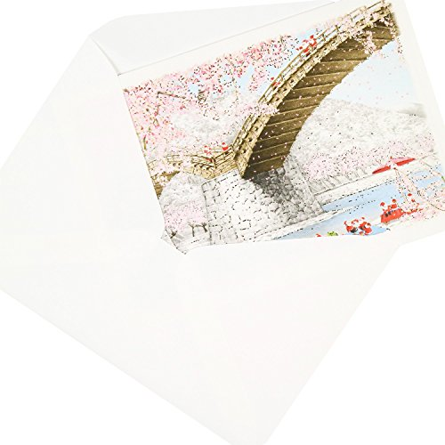 グリーティングライフ『クリスマスカード和風ミニサンタ3枚セット錦帯橋(SJ-11-AM)』